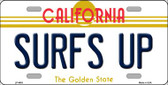 Surfs Up California Novelty Wholesale Metal License Plate LP-4903