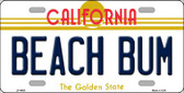 Beach Bum California Novelty Wholesale Metal License Plate LP-4906