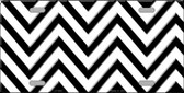 White Black Chevron Wholesale Metal Novelty License Plate LP-4995