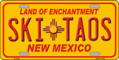 Ski Taos Yellow New Mexico Novelty Wholesale License Plate LP-5004
