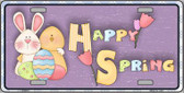 Happy Spring Purple Wholesale Metal Novelty License Plate LP-5021