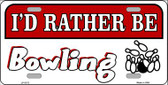 Rather Be Bowling Wholesale Metal Novelty License Plate