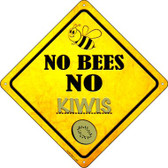 No Bees No Kiwis Wholesale Novelty Crossing Sign CX-329