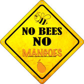 No Bees No Mangoes Wholesale Novelty Crossing Sign CX-332