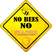 No Bees No Peaches Wholesale Novelty Crossing Sign CX-333