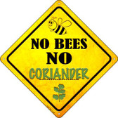 No Bees No Coriander Wholesale Novelty Crossing Sign CX-344