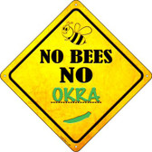 No Bees No Okra Wholesale Novelty Crossing Sign CX-348