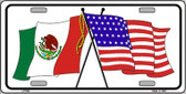 United States Mexico Flag Wholesale Metal Novelty License Plate LP-532