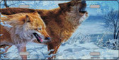 Wintertime Wolf Wholesale Metal Novelty License Plate