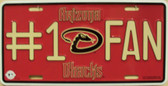 Diamondbacks Fan Wholesale Metal Novelty License Plate LP-650