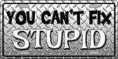 You Cant Fix Stupid Wholesale Metal Novelty License Plate LP-839