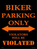 Biker Parking Only Wholesale Metal Novelty Parking Sign