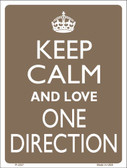 Keep Calm Love One Direction Wholesale Metal Novelty Parking Sign
