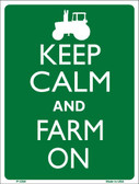 Keep Calm Farm On Wholesale Metal Novelty Parking Sign P-2260