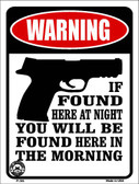 If Found Here Wholesale Metal Novelty Parking Sign P-385