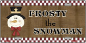 Frosty The Snowman Wholesale Metal Novelty License Plate XMAS-20