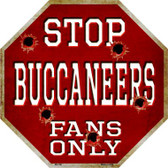 Buccaneers Fans Only Wholesale Metal Novelty Octagon Stop Sign BS-186