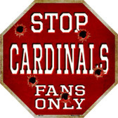 Cardinals Fans Only Wholesale Metal Novelty Octagon Stop Sign BS-187
