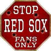 Red Sox Fans Only Wholesale Metal Novelty Octagon Stop Sign BS-235