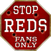 Reds Fans Only Wholesale Metal Novelty Octagon Stop Sign BS-236