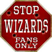 Wizards Fans Only Wholesale Metal Novelty Octagon Stop Sign BS-272