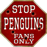 Penguins Fans Only Wholesale Metal Novelty Octagon Stop Sign BS-283