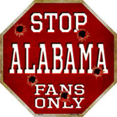Alabama Fans Only Wholesale Metal Novelty Octagon Stop Sign BS-303
