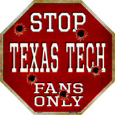 Texas Tech Fans Only Wholesale Metal Novelty Octagon Stop Sign BS-331