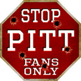 Pitt Fans Only Wholesale Metal Novelty Octagon Stop Sign BS-341