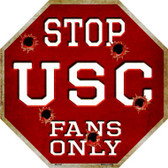 USC Fans Only Wholesale Metal Novelty Octagon Stop Sign BS-342