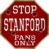 Stanford Fans Only Wholesale Metal Novelty Octagon Stop Sign BS-346