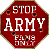 Army Fans Only Wholesale Metal Novelty Octagon Stop Sign BS-348