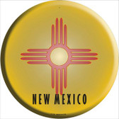 New Mexico State Flag Wholesale Metal Circular Sign