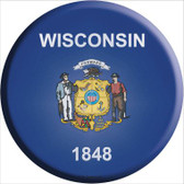 Wisconsin State Flag Wholesale Metal Circular Sign