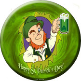 Happy St. Patricks Day Wholesale Novelty Metal Circular Sign