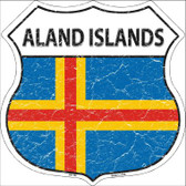 Aland Islands Country Flag Highway Shield Wholesale Metal Sign