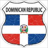 Dominican Republic Country Flag Highway Shield Wholesale Metal Sign