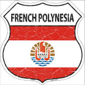 French Polynesia Country Flag Highway Shield Wholesale Metal Sign