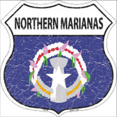 Northern Marianas Country Flag Highway Shield Wholesale Metal Sign