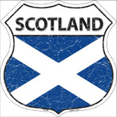 Scotland Country Flag Highway Shield Wholesale Metal Sign