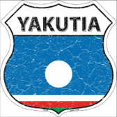 Yakutia Country Flag Highway Shield Wholesale Metal Sign