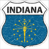 Indiana State Flag Highway Shield Wholesale Metal Sign