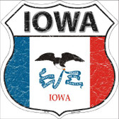 Iowa State Flag Highway Shield Wholesale Metal Sign