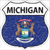 Michigan State Flag Highway Shield Wholesale Metal Sign