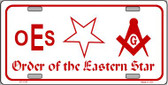 Order Of The Eastern Star Novelty Wholesale Metal License Plate LP-1176