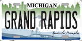 Grand Rapids Michigan Wholesale Metal Novelty License Plate LP-6109