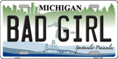 Bad Girl Michigan Wholesale Metal Novelty License Plate LP-6114
