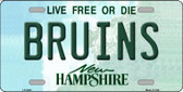 Bruins New Hampshire Wholesale Metal Novelty License Plate LP-5436