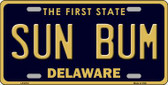 Sun Bum Delaware Novelty Wholesale Metal License Plate LP-6712