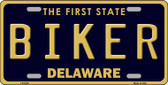 Biker Delaware Novelty Wholesale Metal License Plate LP-6722